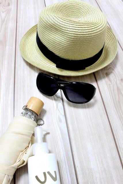 紫外線対策帽子日傘