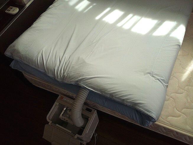 布団乾燥機 敷布団の裏